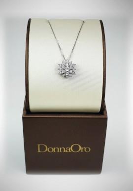 DonnaOro white gold necklace with diamonds DFPF3583.014