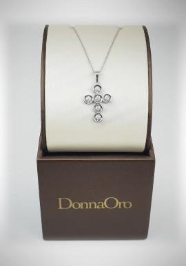 DonnaOro white gold necklace with diamonds DFPF3589.006