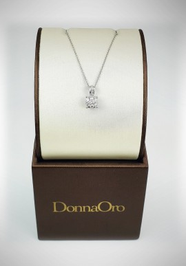 DonnaOro white gold necklace with diamonds DIPF3550.034