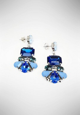 Ottaviani Metal earrings with crystals and rhinestones 490395