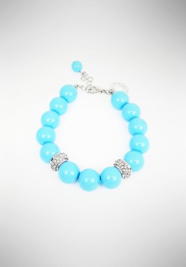 Ottaviani bracelet with rhinestones and turquoise paste 50052B