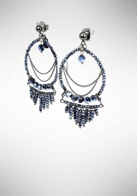 Ottaviani Chandelier earrings with beads 500177O