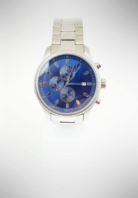Ottaviani Chronograph men watch with steel strap and blue dial 16082B