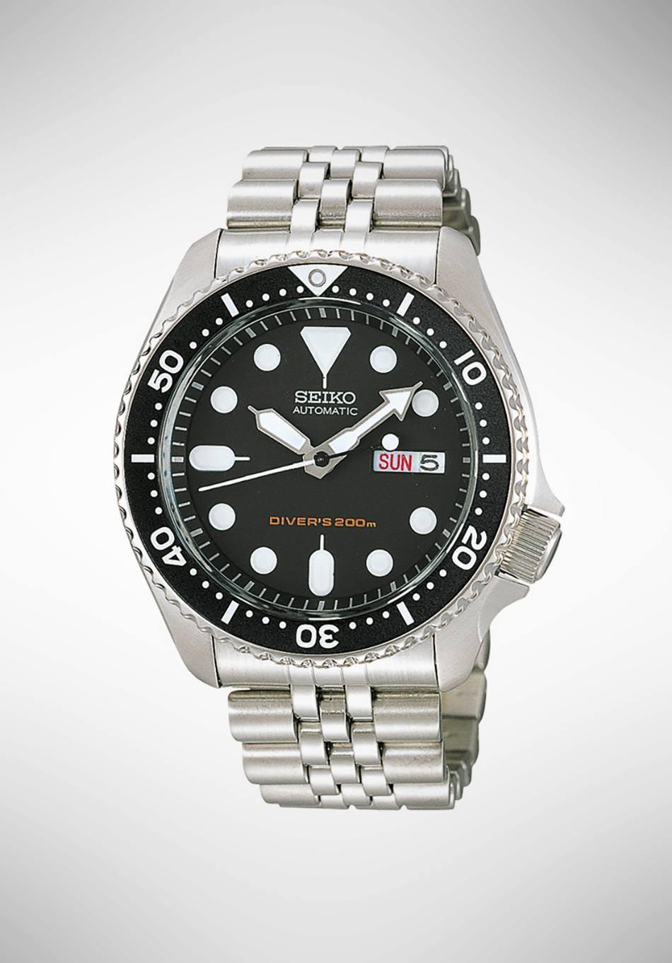 Seiko Sport Watch Skx007k2 Gioielleria Loffredo Automatic Divers 200m Black Dial Loading Zoom
