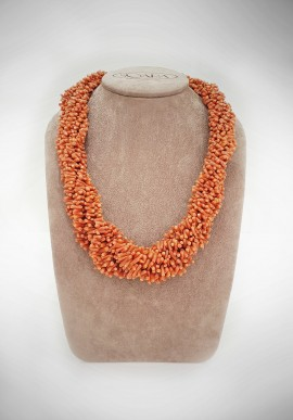 Soara silver and coral necklace SOA51