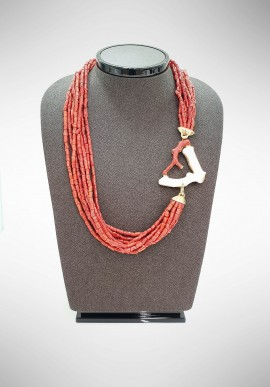Soara silver and coral necklace SOA53