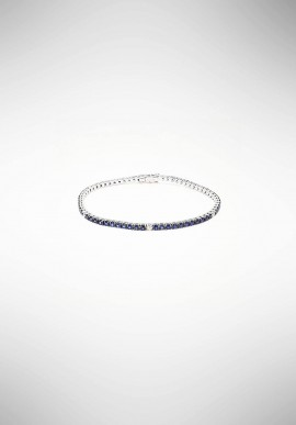 "Bracciale ""Tennis"" con diamanti e zaffiri World Diamond Group BTF001ZBD14"