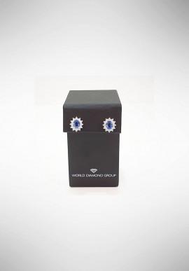 Orecchini con diamanti e zaffiri World Diamond Group OCL021WDIZB