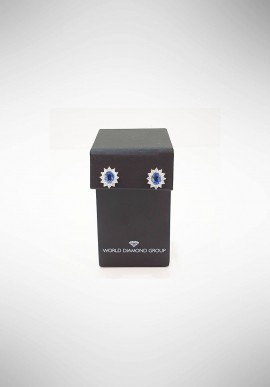 World Diamond Group Earrings with diamonds and sapphires OCL021WDIZB