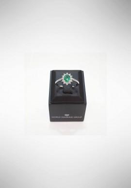 Anello con smeraldo e diamanti World Diamond Group ACLC019WDISM