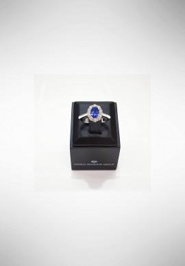 Anello con diamanti e zaffiri World Diamond Group ACL045DIZB