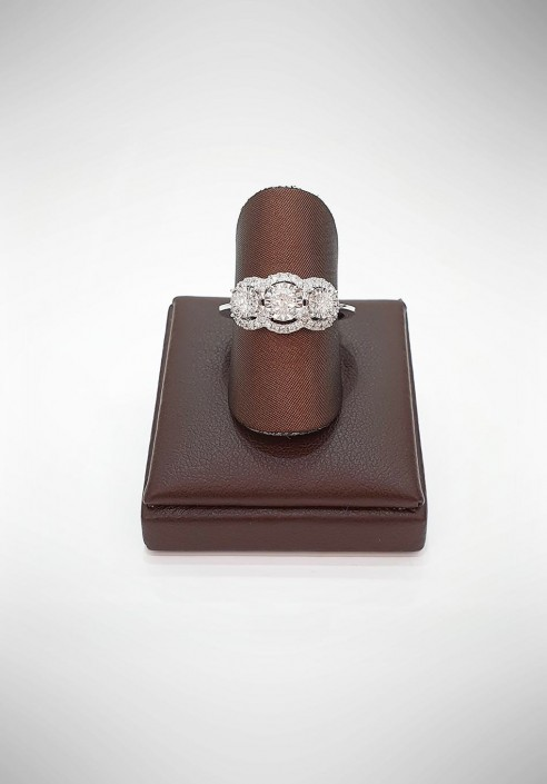 Donnaoro Trilogy Ring with Diamonds DFAF5621.054