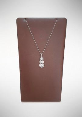 Donnaoro Trilogy necklace with diamonds DFPF5620.051